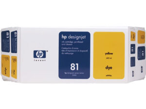HP 81 Value Pack Yellow Dye Ink Cartridge and Printhead C4993A
